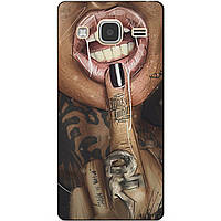 Чехол силиконовый бампер для Samsung J3 Galaxy J300 с рисунком Палец
