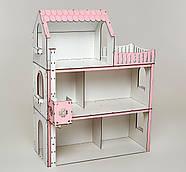 Кукольный домик для Барби NestWood Люкс с лифтом без мебели розовый (kdb003), фото 2