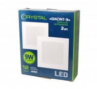 Светильник потолочный квадратный Crystal GIACINT 9W (90Вт), упаковка 2 шт