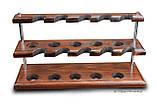 Универсальная подставка под 10 трубок из ясеня, фото 6
