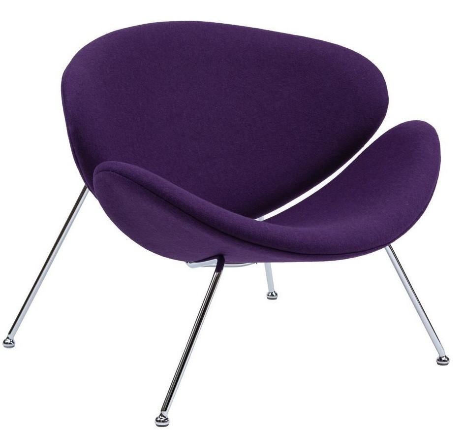 Кресло-лаунж Foster фиолетовое TM Concepto
