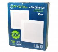 Светильник потолочный квадратный Crystal GIACINT 12W (120Вт), упаковка 2 шт