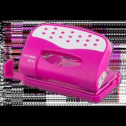 Дырокол металлический с пластиковой накладкой (до 12л.), розовый
