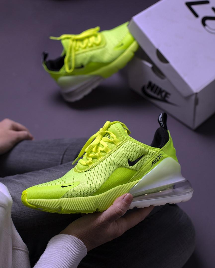 """Кроссовки Nike Air Max 270 """"Желтые\Зеленые"""""""