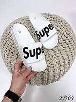 Шлепанцы Super резиновые белые, фото 1