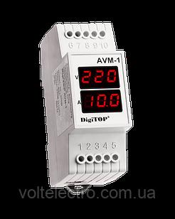 DigiTOP Амперметр-Вольтметр  на DIN-рейку  АVM-1 (зовнішній ТТ)