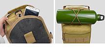 Сумка тактическая мужская на 7л через плечо, штурмовая, военная, армейская сумка рюкзак Oxford 600D, (Песок), фото 3