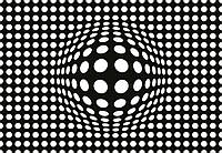 Фотообои 3D фигуры 368х254 см (флизелин, бумага) Белые точки (5007WG)