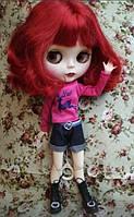 Шарнирная кукла Айси (Блайз), каре огненно красный цвет + 10 пар кистей, одежда и обувь в подарок