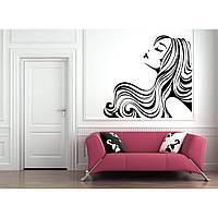 Интерьерная виниловая наклейка на стену IdeaX Always beauty 75х70 см Черная