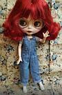 Шарнирная кукла Айси (Блайз), каре огненно красный цвет + 10 пар кистей, одежда и обувь в подарок, фото 5