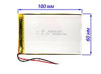 Аккумулятор (батарея) 3000 мАч для планшета - 3,7в универсальный 3000 mAh 3.7v размер 4.0*60*100 мм (4060100), фото 1