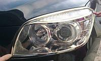 Хром накладки на фары Toyota RAV-4, Тойота РАВ-4 2006-2010 г.в.