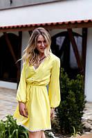 Платье  женское    С,М,Л  Цвет-  малина, желтый, фото 1
