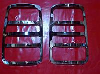 Хром накладки на стопы Volkswagen CADDY, Фольксваген Кадди