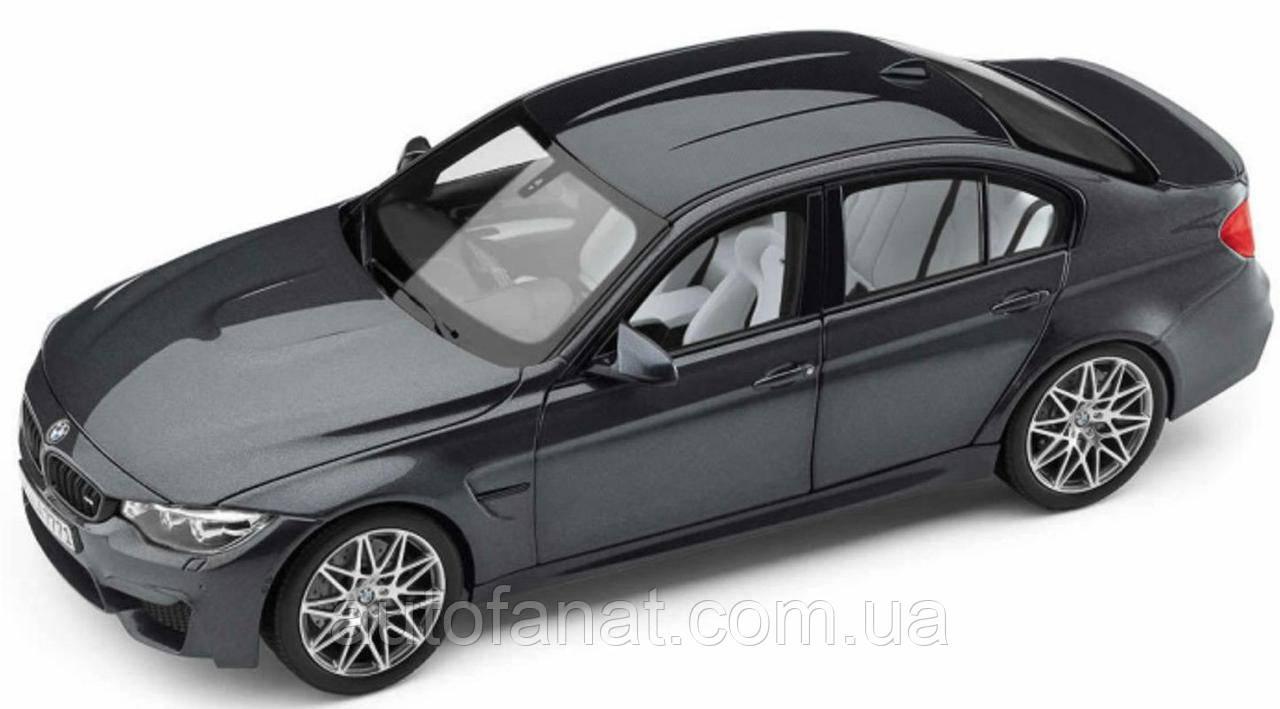 Оригинальная модель автомобиля BMW M3 Competition (F80), Scale 1:18, Mineral Grey (80432411554)
