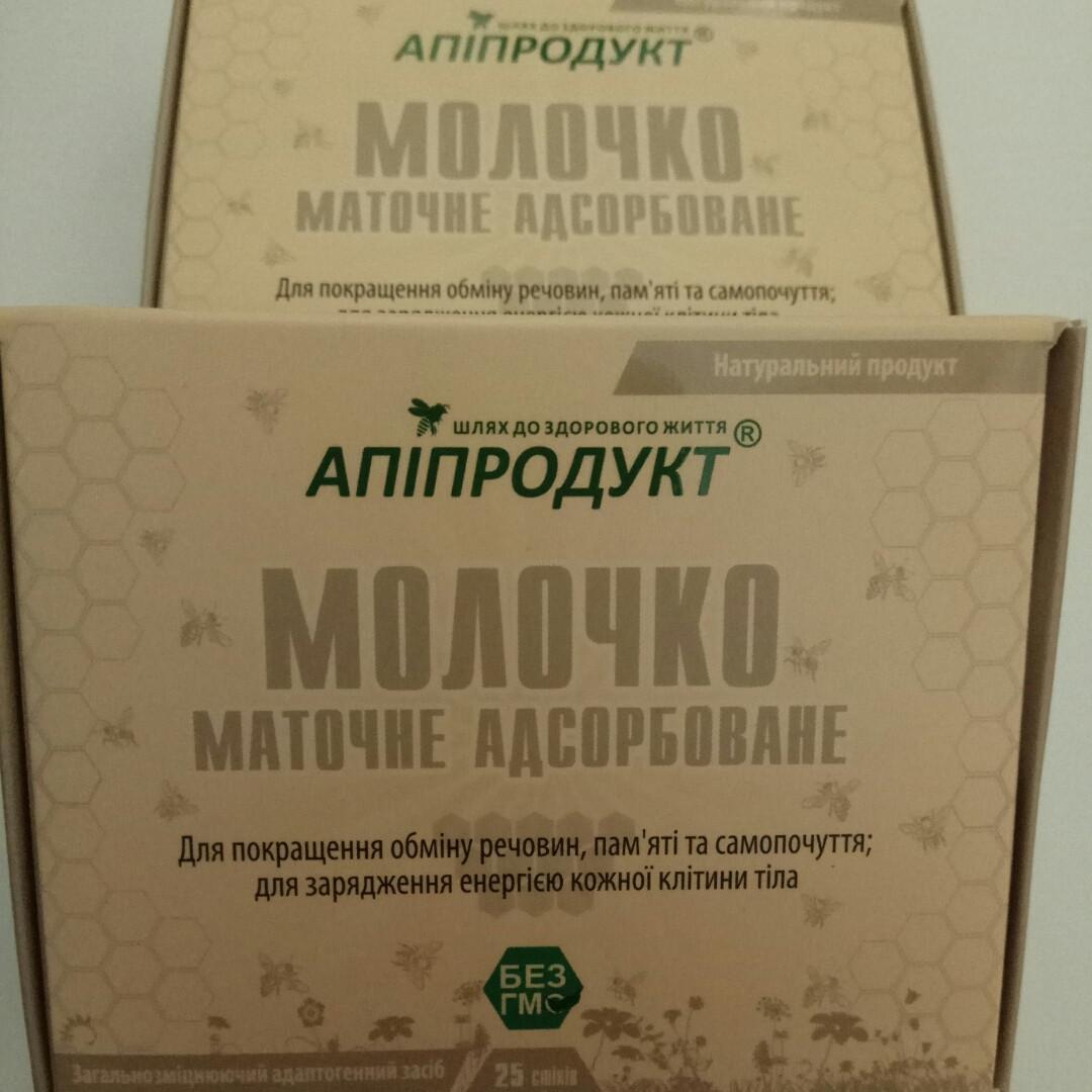 Маточное молочко адсорбированное 10 %-ое Апипродукт 25 стиков