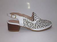 Женские кожаные летние босоножки на каблуке ТМ Anna Lucci    , фото 1