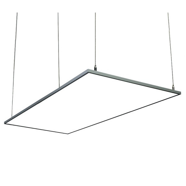 На фото изображена светодиодная ЛЕД панель 300х600 - подвес на 4 вертикальных тросах