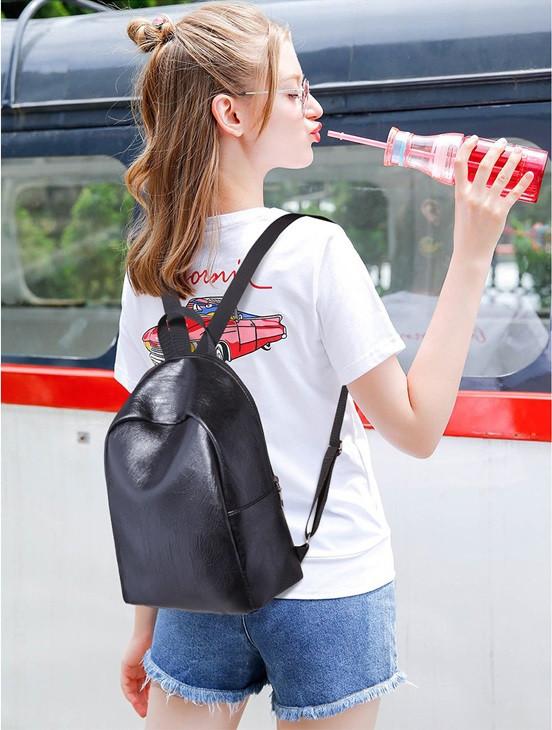 Рюкзак женский городской небольшой 8 л L-16419 черный