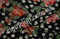 Холодок Принтовый чернобелый горох в цветы