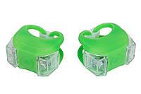 Мигалка 2шт BC-RL8002 білий+червоний світло LED силіконовий (зелений корпус)