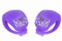 Мигалка 2шт BC-RL8001 білий+червоний світло LED силіконовий (фіолетовий корпус)
