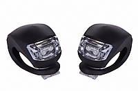 Мигалка 2шт BC-RL8001 білий+червоний світло LED силіконовий (чорний корпус)