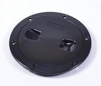 Лючок инспекционный, черный, диаметр 15,3см