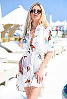 Туника рубашка пляжная женская