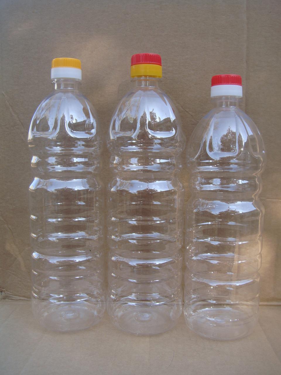 Пластиковая ПЭТ бутылка 1 л, 0,9 л для масла