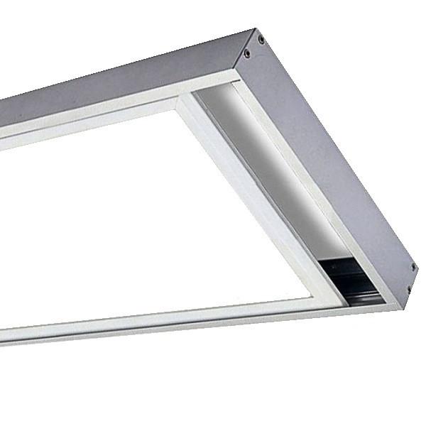 На фото изображена светодиодная ЛЕД панель 300х600 - накладное крепление с помощью рамки