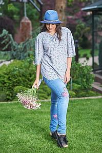 """Узкие женские джинсовые брюки """"Beth"""" с аппликацией (большие размеры)"""
