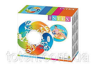"""Intex надувний круг 58202 """"Вихор кольору з ручками (119 см)"""