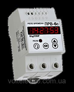 DigiTOP Програмоване реле часу на DIN-рейку 24А PB-6C  (добовий режим)