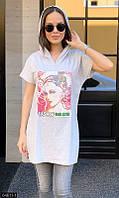 Белая футболка ,модные женские майки ,белая футболка с рисунком ,женская футболка ,майки женские