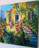 Живопись Картина маслом Городской пейзаж *Италия Венеция цветы* Подарок маме бабушке жене тёще свекрови тёте