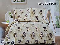 Сатиновое постельное белье евро 3020 «Цветы» от ELWAY