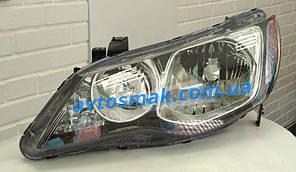 Фара передняя для Honda Civic 4d '06-09 левая (DEPO) под электрокорректор
