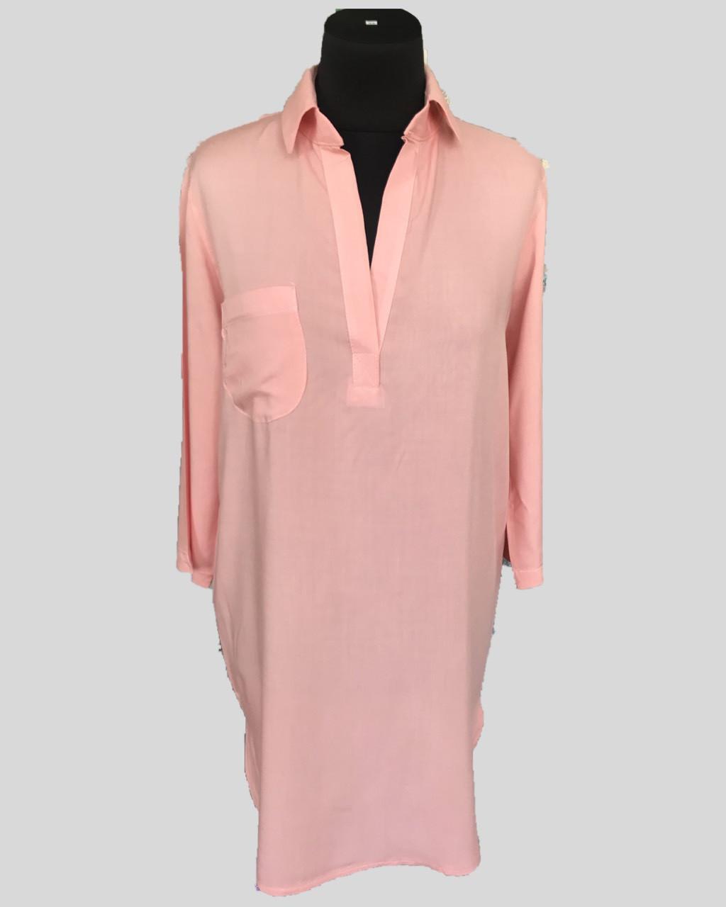 Пляжная туника рубашка, цвет - персик.