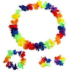 Гавайский набор (Леи, браслет, венок)