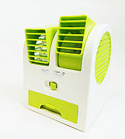Портативный Мини Вентилятор, кондиционер Mini Fan HB 168, Зеленый , фото 1