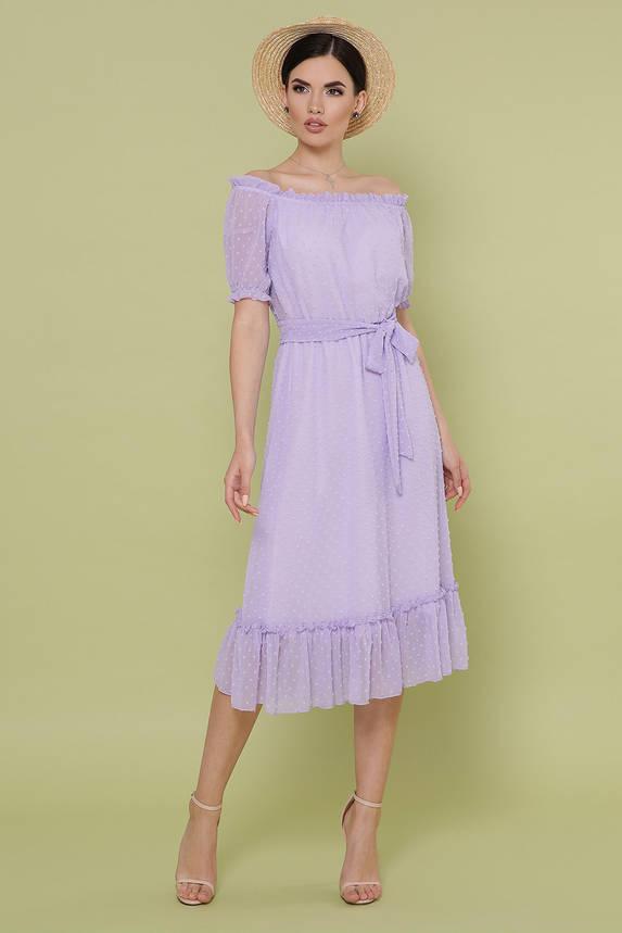 Красивое шифоновое платье-миди летнее, фото 2
