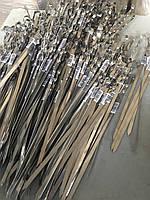 Набор шампуров 50 см, комплект, толщина 1,5 мм, ширина 10 мм, уголком нержавейка, оптом и в  розницу