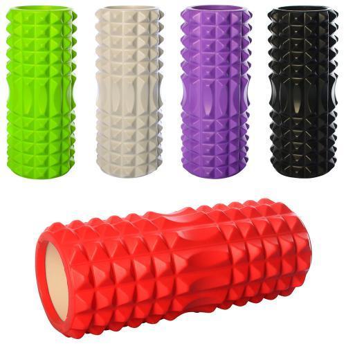 Массажный валик (ролик) для йоги (33 х14 см) - MS 0857-4
