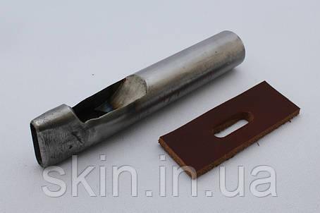 Просечка (пробойник) для вырубки овальных отверстий в коже, размер - 20 мм*5 мм, артикул СК 6048, фото 2
