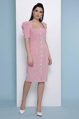 Летнее платье-миди в полоску красное, фото 3