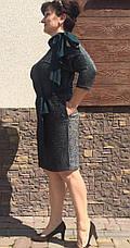 """Платье """"Мирасен""""  в большом размере размеры 52 зеленое, фото 3"""