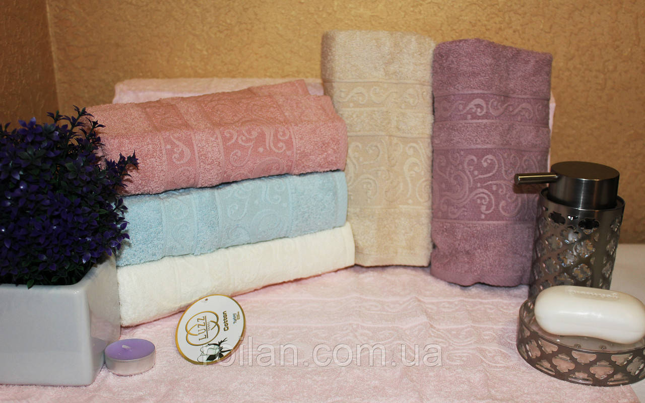 Банные турецкие полотенца Luzz Однотонный Вензель