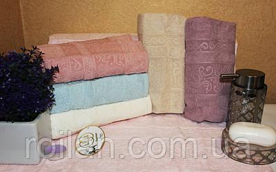 Банныетурецкие полотенца Luzz Однотонный Вензель